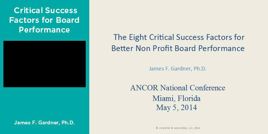 Critical Success Factors for Board Performance