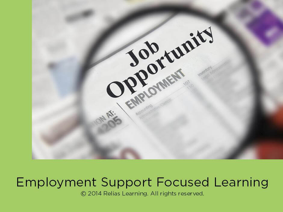 Employment Support Focused Learning