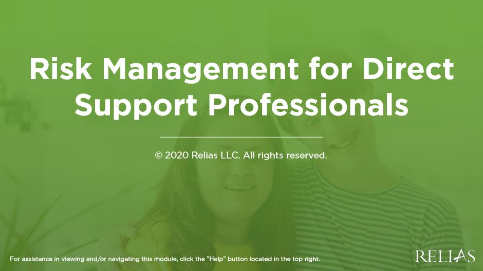 Risk Management for Direct Support Professionals