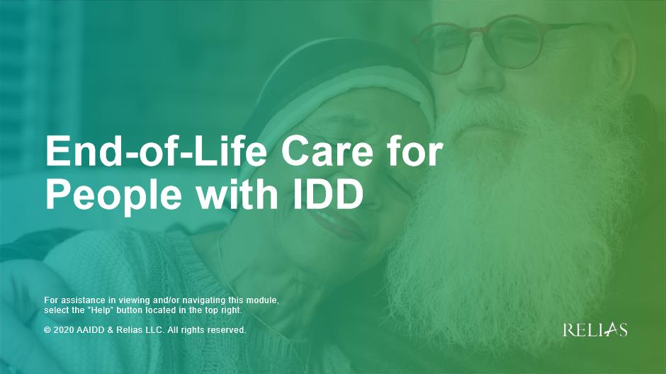 End-of-Life Care for People with IDD