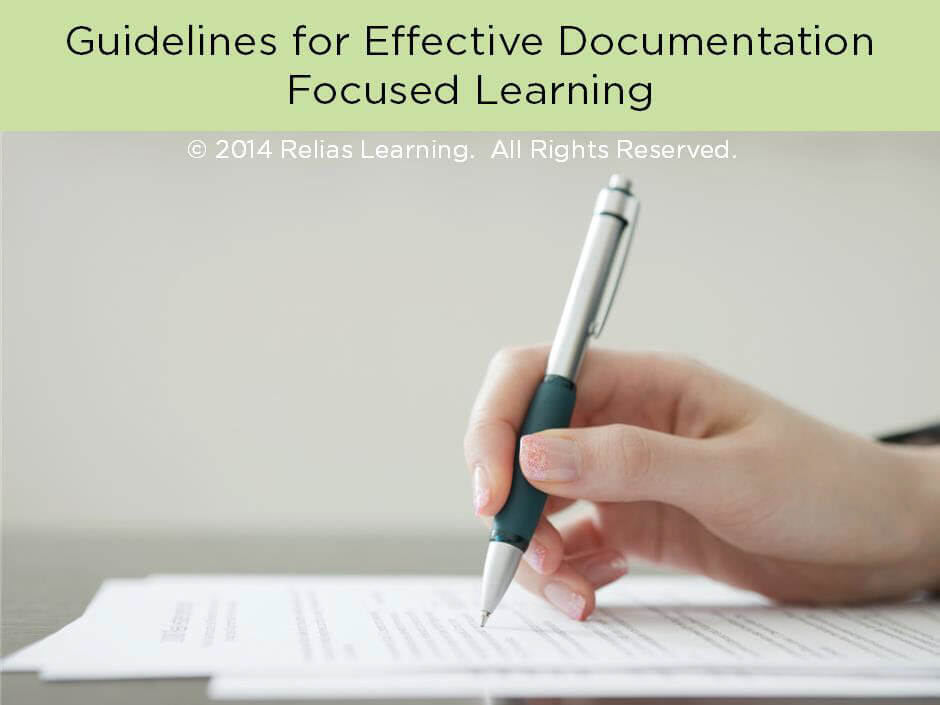 Guidelines for Effective Documentation Focused Learning