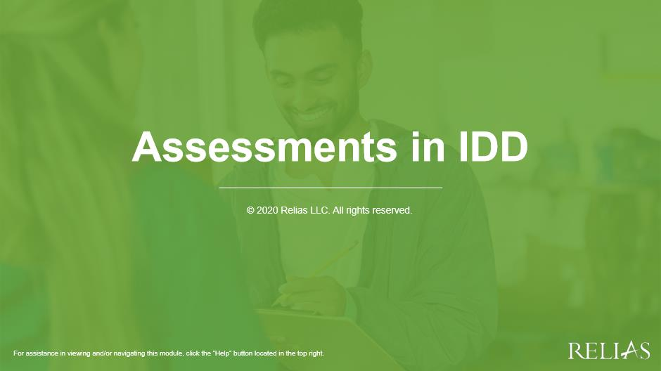 Assessments in IDD