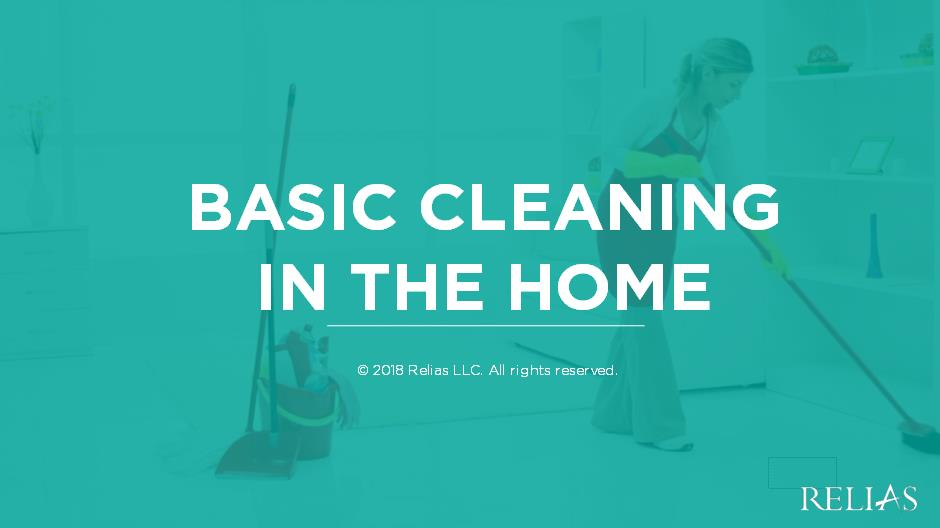 Basic Cleaning in the Home