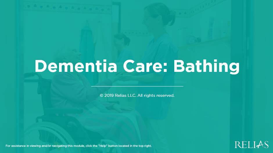 Dementia Care: Bathing