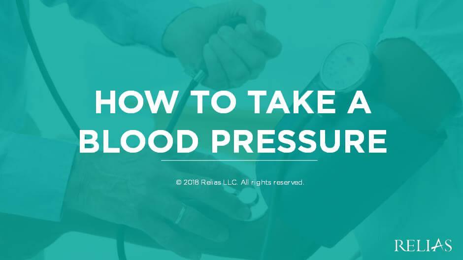 How to Take a Blood Pressure