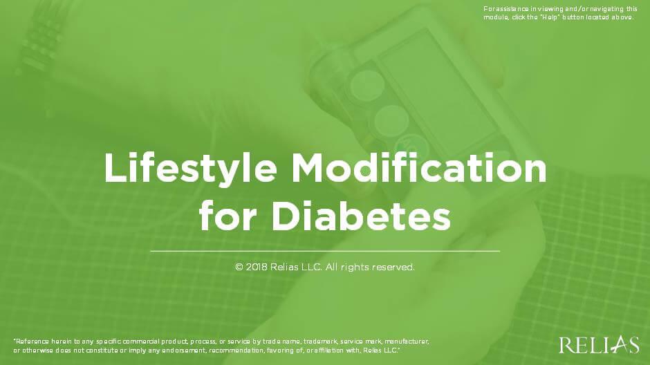 Lifestyle Modification for Diabetes