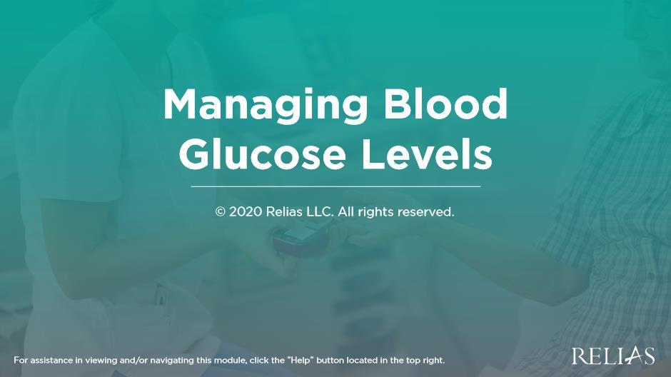 Managing Blood Glucose Levels