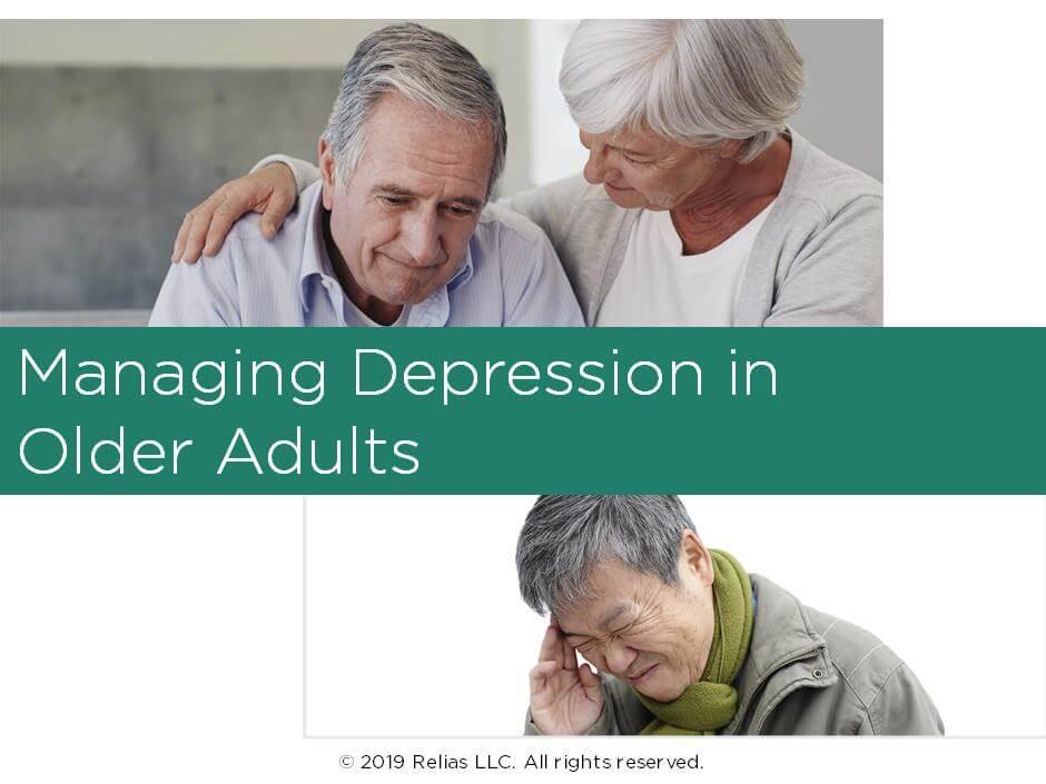 Managing Depression in Older Adults