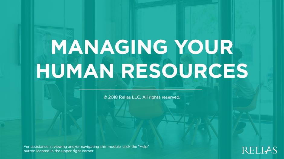 Managing Your Human Resources