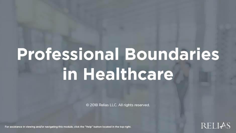 Professional Boundaries in Healthcare
