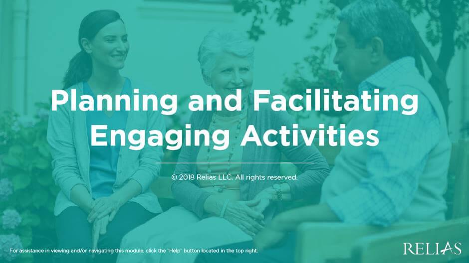 Planning and Facilitating Engaging Activities