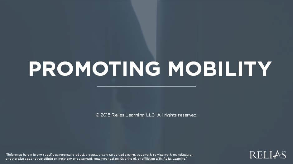 Promoting Mobility