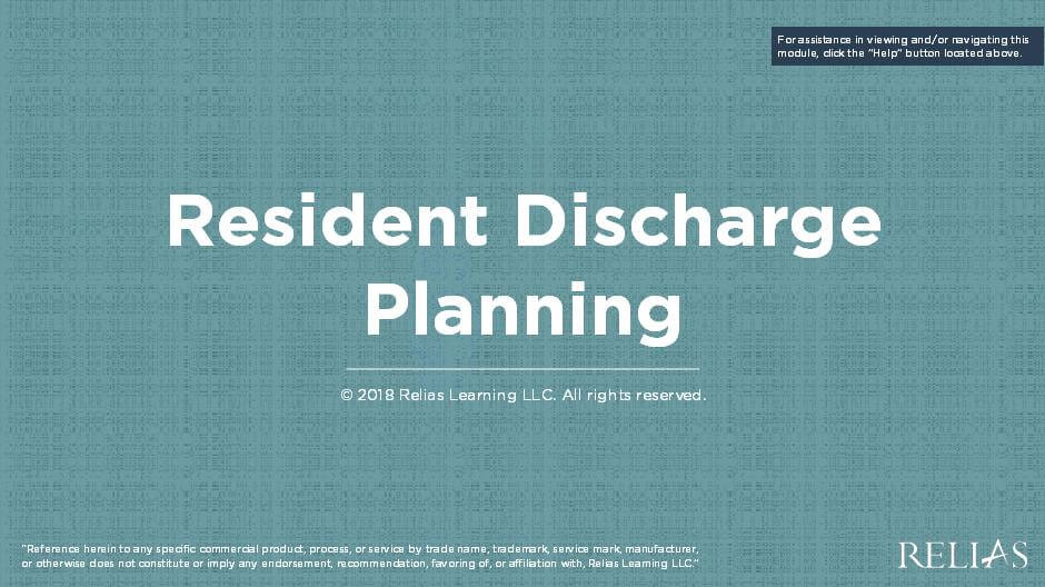 Resident Discharge Planning