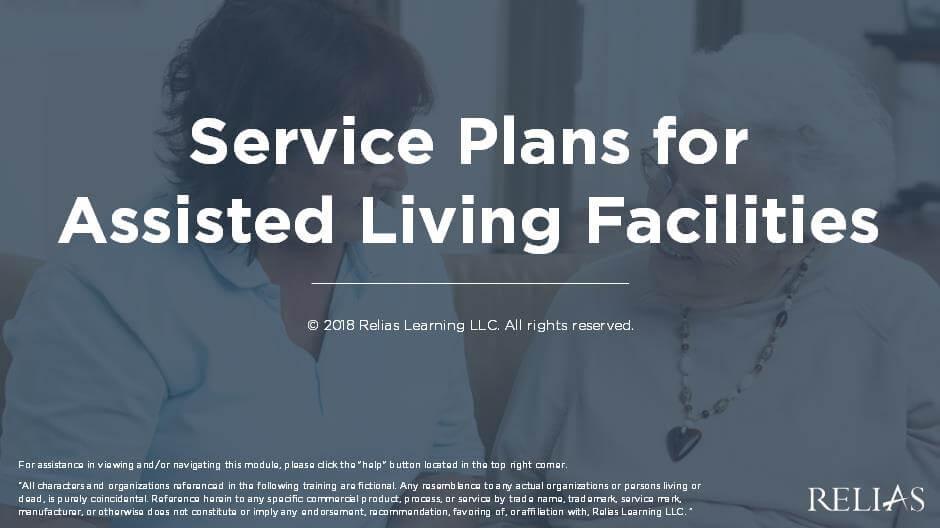 Service Plans for ALF
