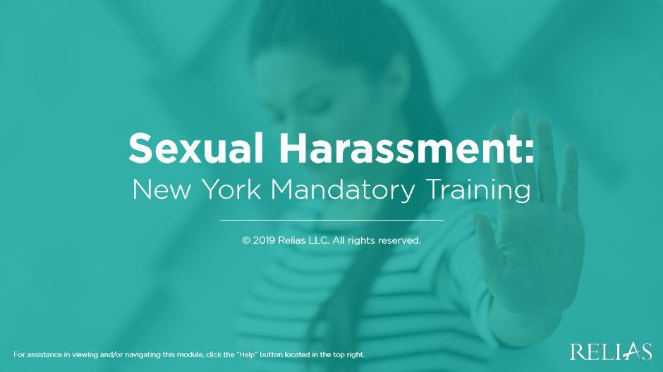 Sexual Harassment- NY Mandatory Training