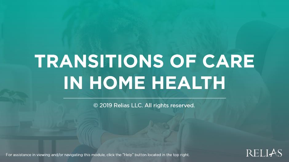 Transitions of Care in Home Health
