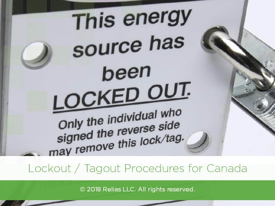 Lockout / Tagout Procedures for Canada