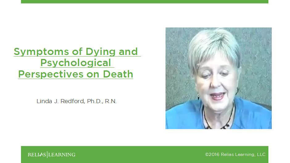 Symptoms of Dying and Psychological Perspectives on Death