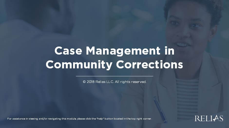 Case Management in Community Corrections