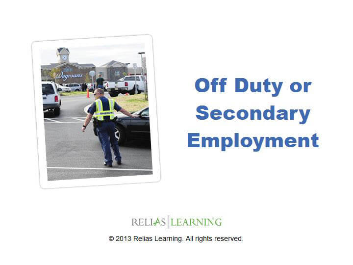 Off Duty or Secondary Employment 1.0