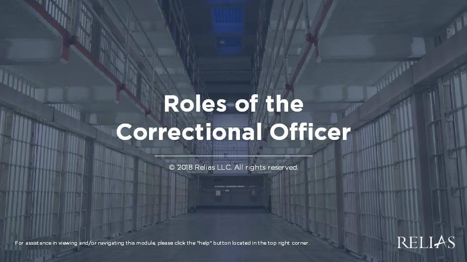Roles of the Correctional Officer