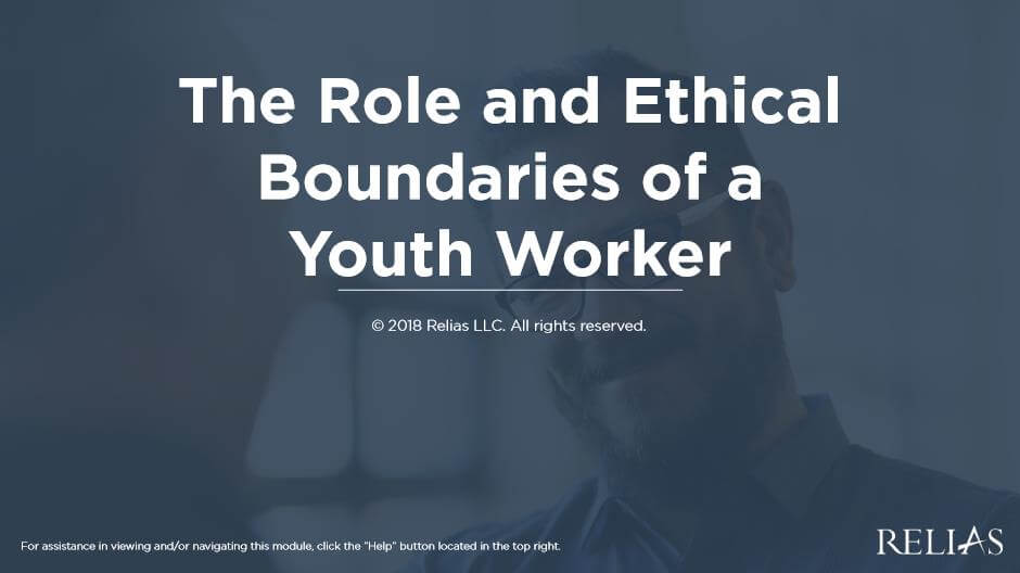 The Role and Ethical Boundaries of a Youth Worker