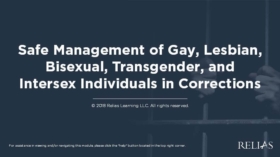Safe Management of Lesbian, Gay, Bisexual, Transgender, Queer/Questioning, and Intersex Populations