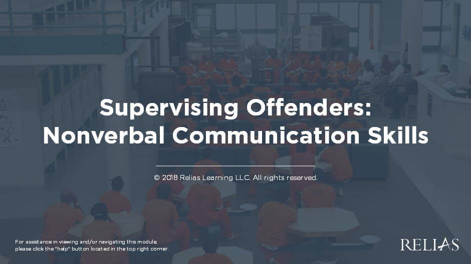 Supervising Inmates: Nonverbal Communication Skills