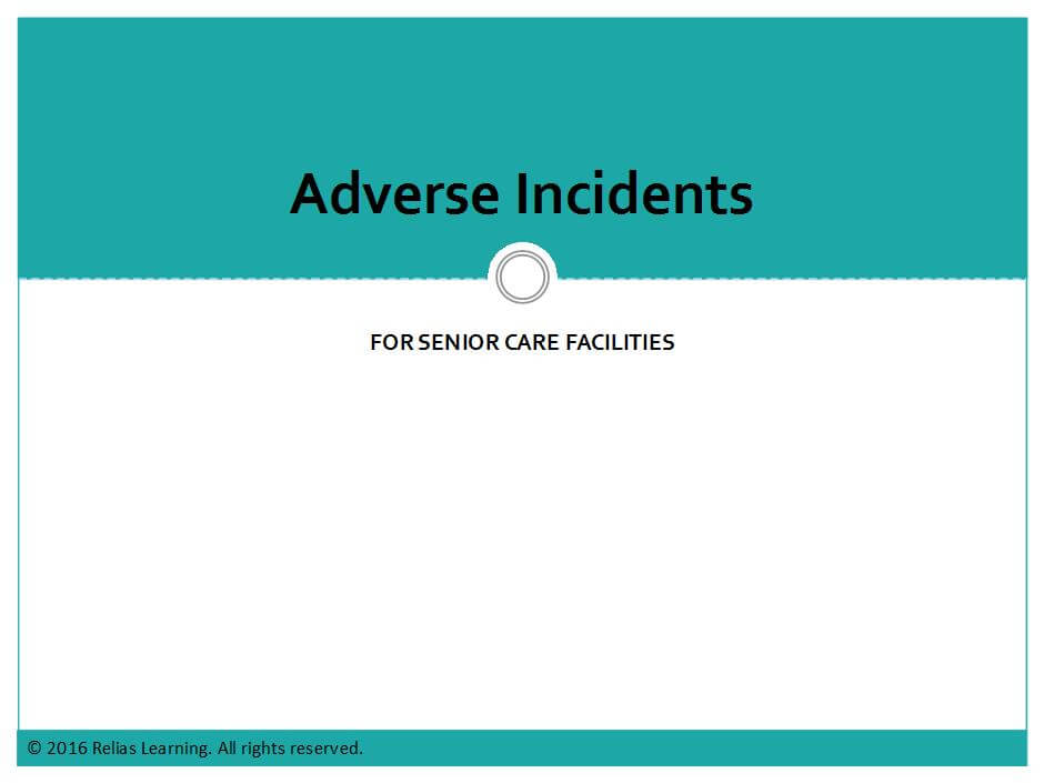 Adverse Incidents for Oklahoma