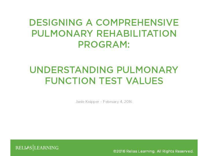 Understanding Pulmonary Function Test Values - Part 3