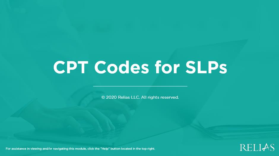 CPT Codes for SLPs
