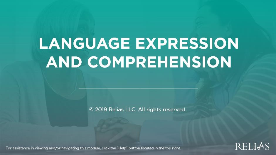 Language Expression and Comprehension