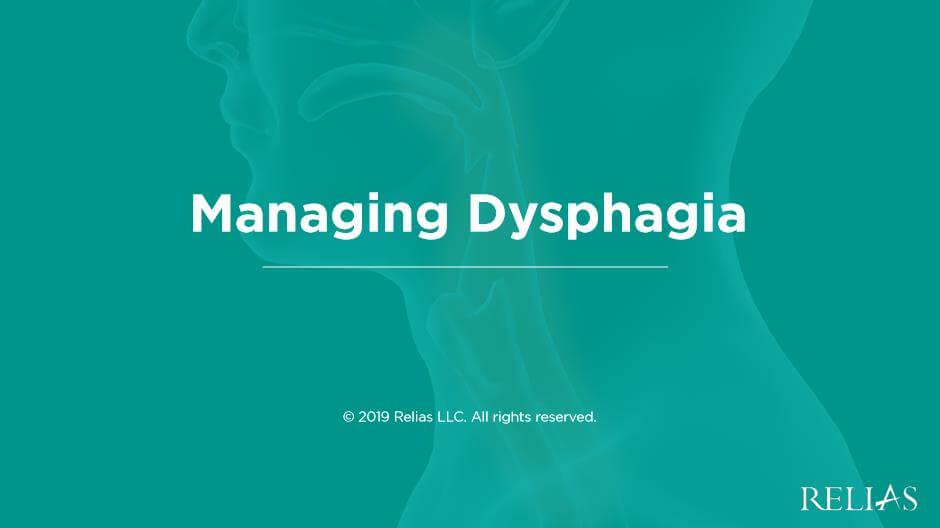 Managing Dysphagia