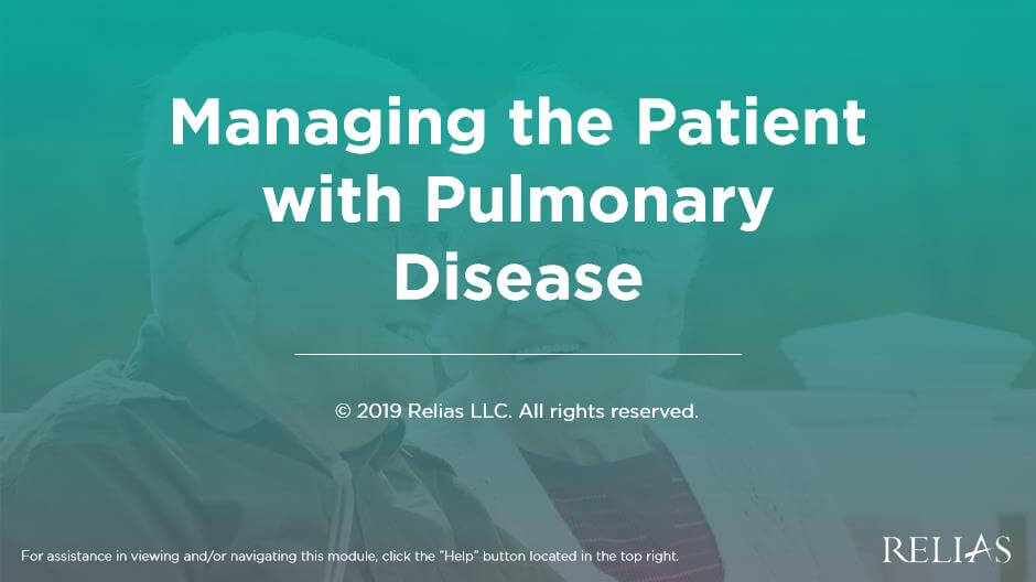 Managing the Patient with Pulmonary Diseases