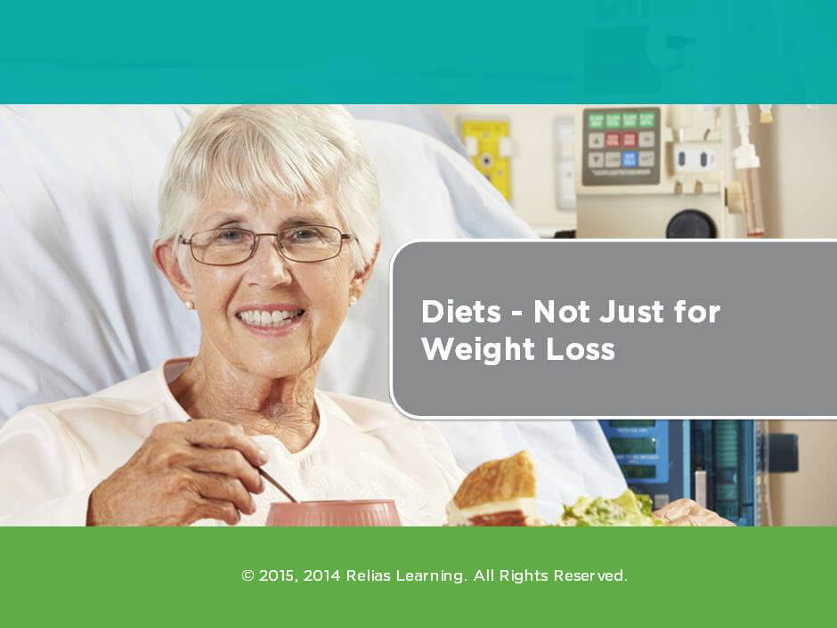 Diets: Not Just for Weight Loss