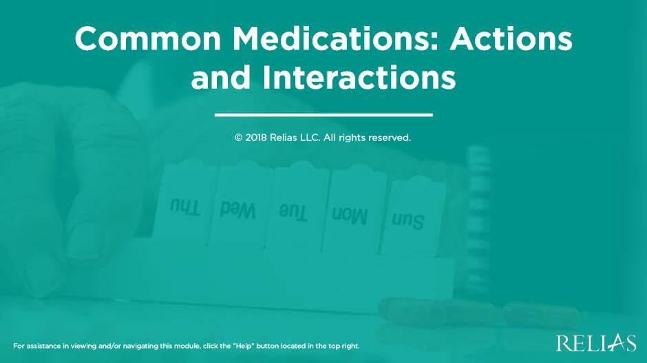Common Medications: Actions and Interactions
