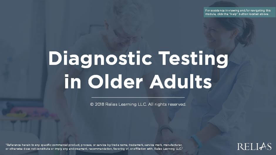 Diagnostic Testing in Older Adults