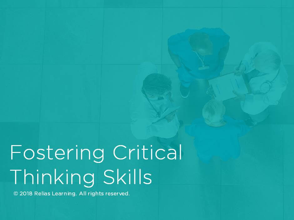 Fostering Critical Thinking Skills