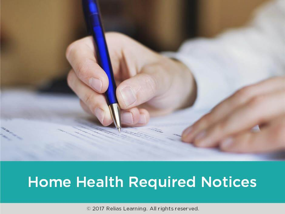 Home Health Required Notices