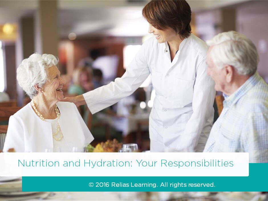 Nutrition & Hydration: Your Responsibilities