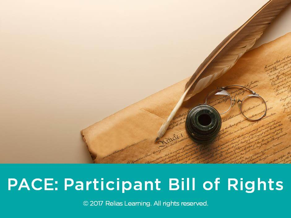 PACE: Participant Bill of Rights
