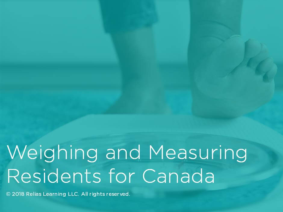 Weighing and Measuring Residents for Canada