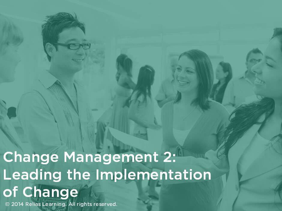 Change Management 2: Leading the Implementation of Change